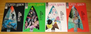Green Arrow: the Black Arrow Saga #1-4 VF/NM complete story - mike grell 35-38