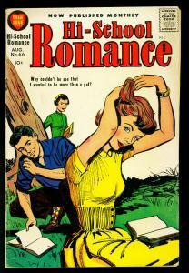 Hi-School Romance #66 1957- Harvey Comics- Great cover- VG
