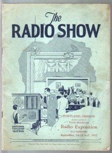 Radio Show Exposition Souvenir Program & Year Book 9/14/1927-Portland OR-very ra