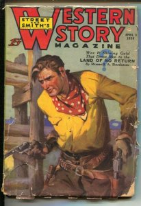 Western Story 4/11/1936-Land of No Return by Russell A. Bankson-Detailed co...