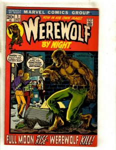 Werewolf By Night # 1 FN Marvel Comic Book Monster Horror Fear Scary Ploog RS1