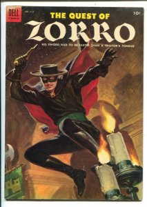 Quest of Zorro-Four Color Comics #617 1955 Dell-Painted cover-Johnston McCull...