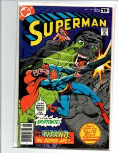 Superman #324 newsstand - 1977 - Very Fine/Near Mint