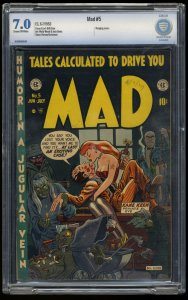 Mad #5 CBCS FN/VF 7.0 Cream To Off White