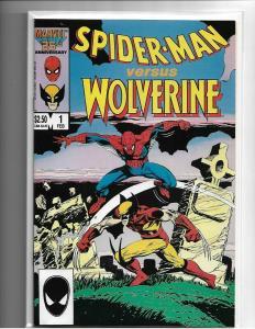 SPIDER-MAN VS WOLVERINE #1 - NM/NM+ - HIGH GRADE COPPER AGE KEY - MARVEL-CLASSIC