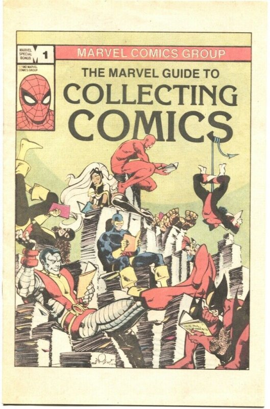 MARVEL GUIDE TO COLLECTING COMICS-1982-WALT SIMONSON  X-MEN COVER