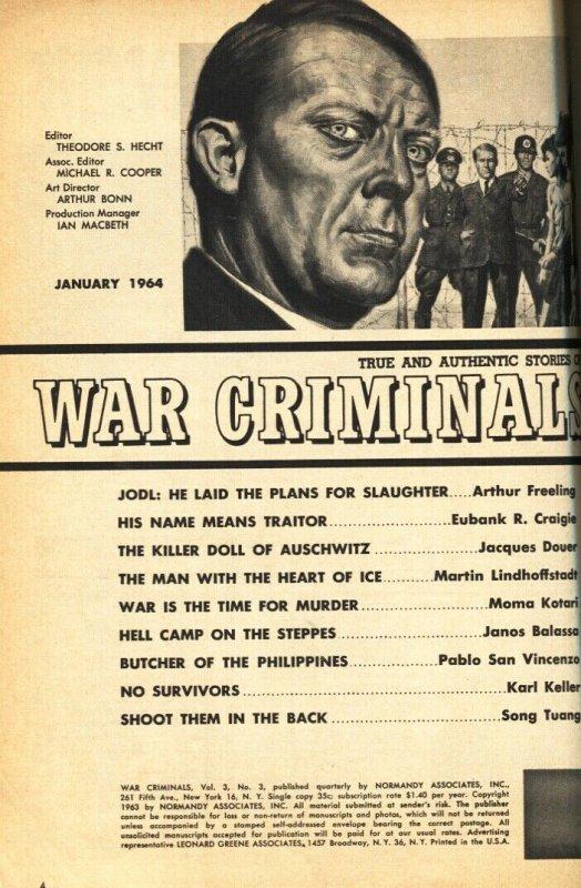 WAR CRIMINALS Jan 1963 VIDKUN QUISLING-Nazi bondage GGA