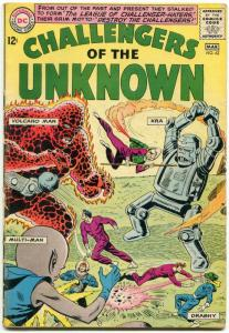 Challengers Of The Unknown #42 1965- DC Silver Age- Robot cover VG