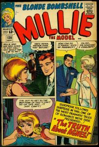 MILLIE THE MODEL #130 1965 MARVEL PAPER DOLLS FASHIONS VG/FN