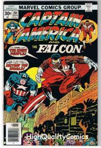 CAPTAIN AMERICA #201, VF+, Jack Kirby, Falcon, 1968, more CA in store