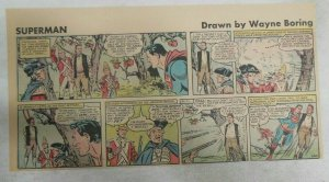 Superman Sunday Page #1160 by Wayne Boring from 1/7/1962 Size ~7.5 x 15 inches
