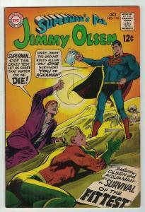 JIMMY OLSEN 115 VG-F SUPERMAN'S PAL AQUAMAN NEAL ADAMS