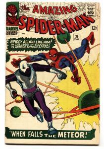 AMAZING SPIDER-MAN #36 comic book-MARVEL COMICS SILVER-AGE VG