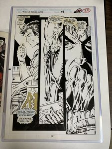 Web Of Spider-man 119 Original Art Steven Bulter 1st Impact Webbing Ever! Signed