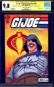 GI Joe #266 BLANK CGC SS 9.8 signed Major Bluud SKETCH Nick Justus Michael Bell