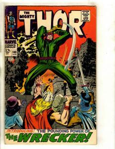 Thor # 148 FN Marvel Comic Book Loki Odin Sif Avengers Hulk Iron Man GK4