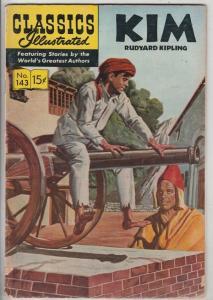 Classics Illustrated #143 (Aug-65) VG/FN Mid-Grade Kim