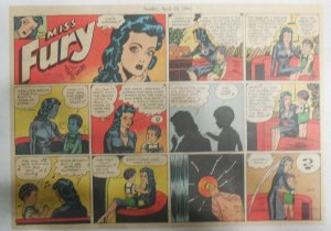Miss Fury Sunday #209 by Tarpe Mills 4/8/1945 Size: 11 x 15  Very Rare Year #5