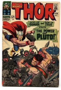 THOR #128 comic book 1966 MARVEL-HERCULES-JACK KIRBY vg