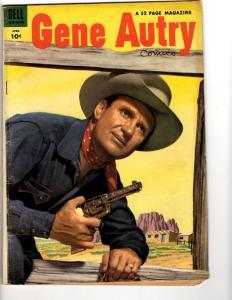 Gene Autry Comics # 86 FN 1954 Dell Silver Age Comic Book Western Photo Cov TP1