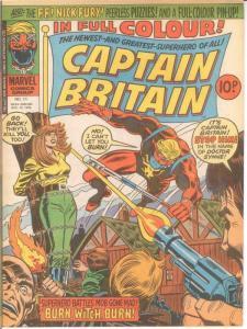 CAPTAIN BRITAIN (1976)11 VF-NM Psylocke at the Stake COMICS BOOK