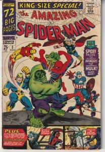 Amazing Spiderman Annual # 3 Avengers ! Hulk ! Dr. Octopus
