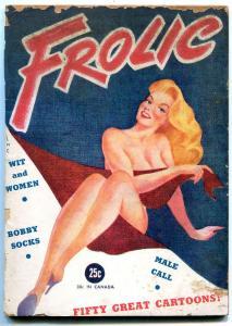 Frolic Magazine 1945- cartoons- George Wolfe- Vic Herman G/VG