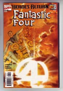 Fantastic Four Heroes Return Alternate Cover #1 (Jan-98) VF- High-Grade Fanta...