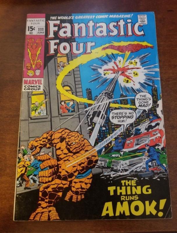 Fantastic Four Comic  # 111, Marvel June 1971