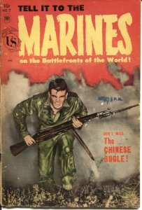 Tell it to the Marines #7 - 1954- Golden Age KOREAN War comic - MONTY HALL & SPI