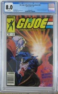 G.I. JOE  #29 (Marvel,11/84) CGC 8.0 Michael Golden Destro Cover!