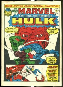 MIGHTY WORLD OF MARVEL #38 1973-NAMOR-HULK-FANTASTIC FOUR-KIRBY-UK COMIC FN