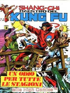 SHANG-CHI MAESTRO DEL KUNG FU MAGAZINE ITALIAN (1975 Series) #19 Very Fine