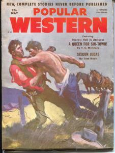 Popular Western 5/1953-Thrilling-Gerald McCann-western pulp stories-FN+