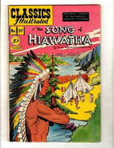 Classics Illustrated #57 HRN 55 VG/FN Gilberton Comic Book Song Of Hiawatha JL26
