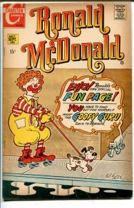Ronald McDonald #1 1970-Charlton-1st issue-puzzles-games-comics-VG
