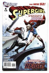 SUPERGIRL #5-2011-New 52-DC 1st appearance of REIGN.