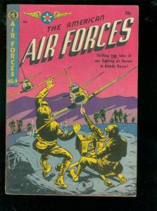 AMERICAN AIR FORCES #9 1952-JET POWERS-VIOLENT KOREA -good G