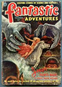 Fantastic Adventures Pulp December 1951- Jongor- Finlay art F/G