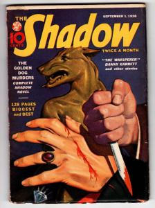 SHADOW 1938 Sept 1 -High Grade- STREET AND SMITH-RARE PULP FN/VF