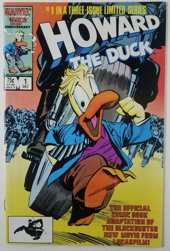 Howard The Duck 1986 Complete Full Run 1,2 & 3 Marvel Movie Adapt LTD High Grade
