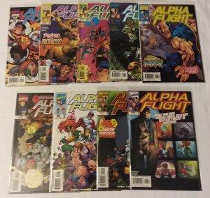 Alpha Flight   vol. 2   #6,8,10-15,19 (1998, set of 9) Seagle, Hitch, Rouleau