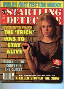 STARTLING DETECTIVE-01/1988-WORLD'S FIRST TEST TUBE MURDER-RIDDLE OF THE CO VG