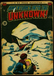 Adventures into the Unknown #9 1950-Frankenstein- Golden Age Horror Comic G