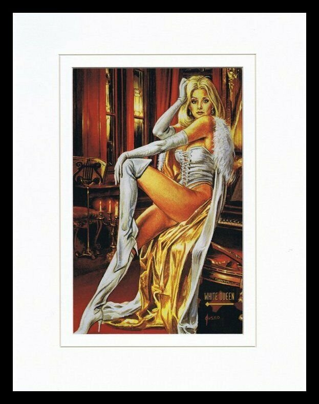 X Men White Queen 1993 Framed 11x14 Marvel Masterpieces Poster Display