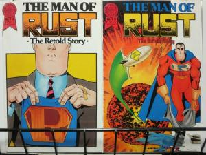 MAN OF RUST (1986 BL) 1A-1B  Set Of Both Variant Covers