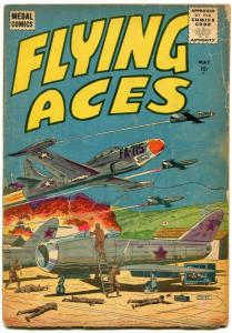 Flying Aces #5 1956- WWII & Korea air battle comic VG