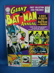 BATMAN ANNUAL 1 VF- FIRST ISSUE BAT CAVE BATMOBILE BAT SIGNAL 1961 GIANT