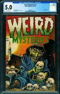 WEIRD MYSTERIES #7 CGC 5.0 1953-PRE-CODE HORROR-amputee-2106293001