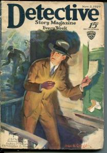 DETECTIVE STORY MAGAZINE-NOV 2 1929-FLETCHER-PHILLIPS-KREBS-good minus G-